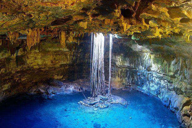 Cenote Azul (Blue Cenote), Yucatan.