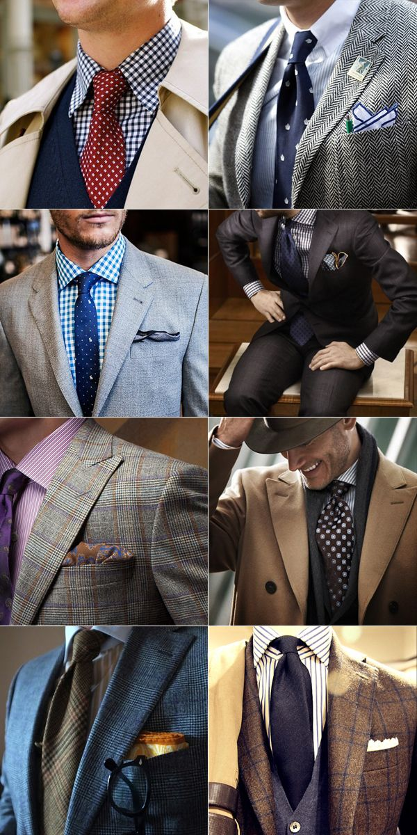 How to wear a pattern shirt with a pattern tie