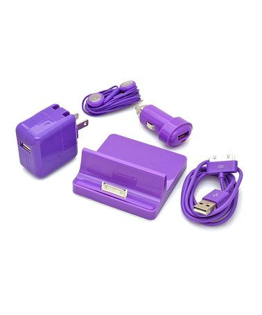 Loving this Purple Accessory Set for iPad/iPhone/iPod on #zulily! #zulilyfinds