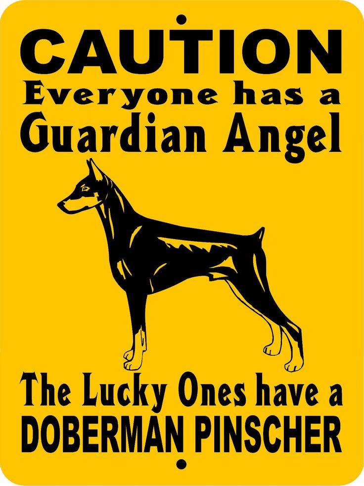 """DOBERMAN PINSCHER DOG SIGN,GUARD DOG SIGN,DOG SIGN,9""""x12"""" ALUMINUM, GADP1 picclick.com"""
