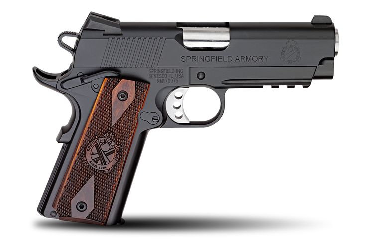 1911 Champion™ Operator Lightweight Model  .45ACP         Springfield Armory® was the first 1911 manufacturer to offer a frame that included an accessory rail as part of the forging. The Champion™ Operator® mates this forged Operator® frame with a shorter slide and a 4 inch barrel. This results in a pistol that is suitable for concealed carry or operating where a light is needed – and it doesn't sacrifice any capacity.
