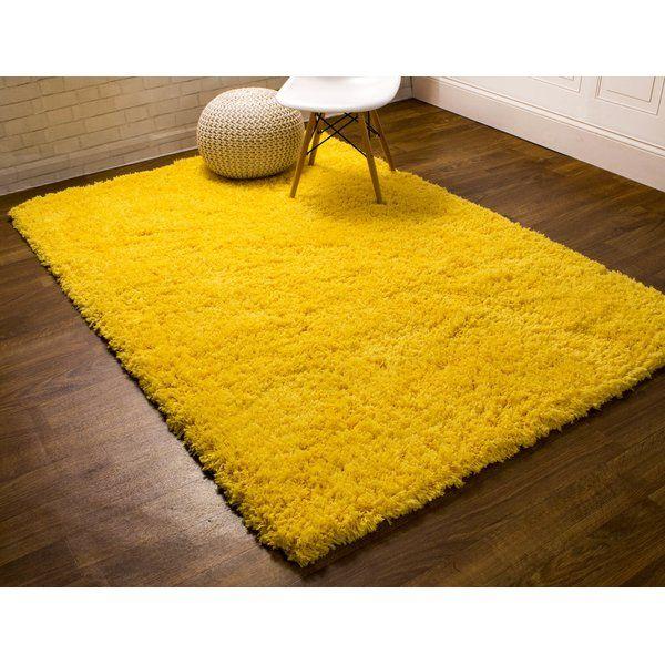 Ambriz Handmade Shag Yellow Area Rug Yellow Carpet Yellow Area Rugs Textured Carpet