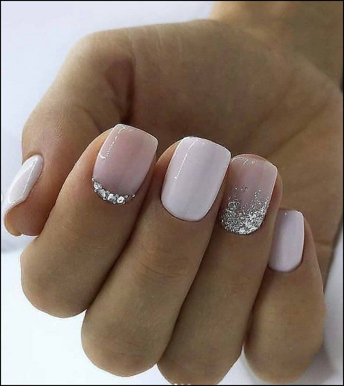 113 Elegant Nail Designs For Short Nails Page 27 Myblogika Com Pink Gel Nails Short Square Acrylic Nails Square Acrylic Nails