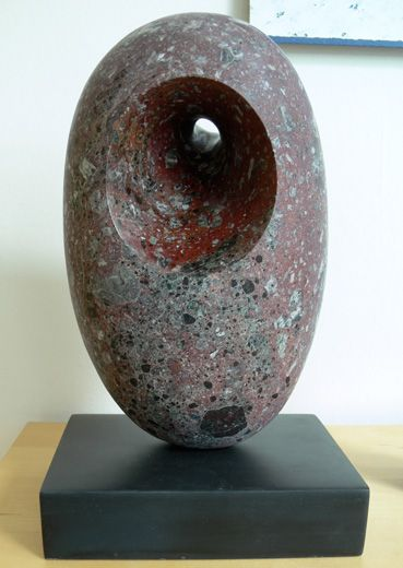 Red Bronze Stone : Red levanto form marble stone sculpture