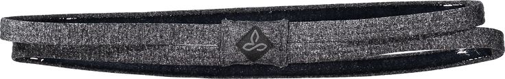 prAna Women's Double Headband Charcoal Heather