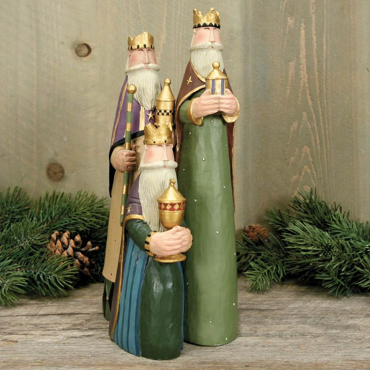 Three Wiseman Figurine - Click Image to Close