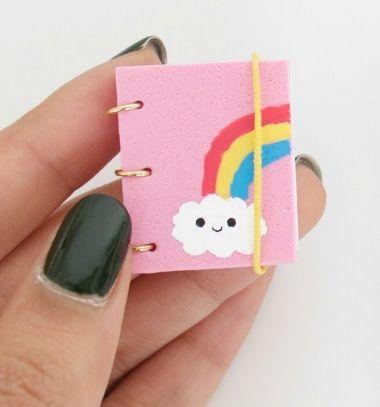 DIY miniature notebooks (4 different design) // Miniatűr jegyzettömb ( könyv ) házilag egyszerűen // Mindy - craft tutorial collection