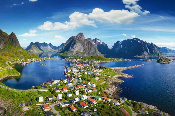 Reine is one of the most beautiful village in Lofoten, Norway.