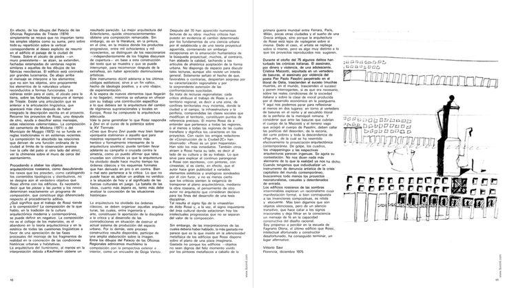 """Aldo Rossi, Moka Co ee Maker, 1975 (Fortuna de Aldo Rossi, in """"2c: Construccion de la ciudad"""", Barcelo- na, Grupo 2c, 1975, n. 2, p. 11)"""