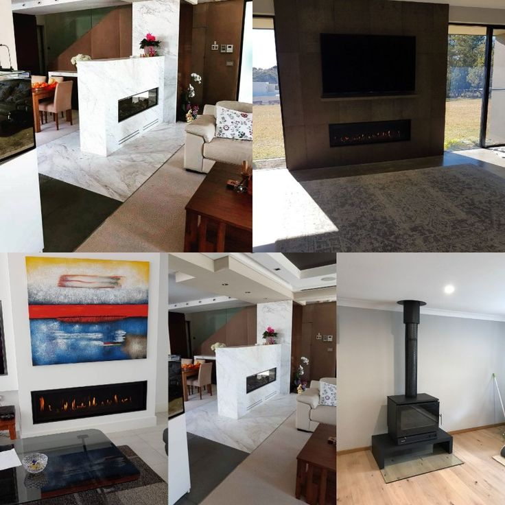 Have a google of some recent installations we've done... #tagafriend There's a hybrid gas/fire, a double sided gas linear (in white marble), slow combustion wood heater on a bench with a glass hearth and another linear gas fp.  Get in touch for your quote (02) 9939 9848 >> http://thefireplace.com.au/ #AbbeyFireplaces