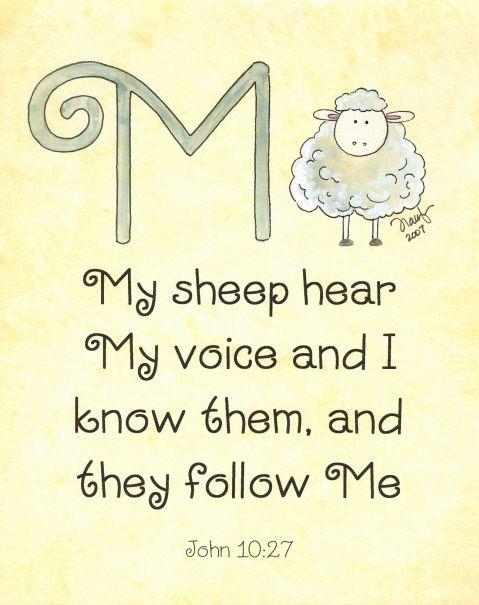 #John 10:27…More at http://beliefpics.christianpost.com/ #sheep #follow #God #bible