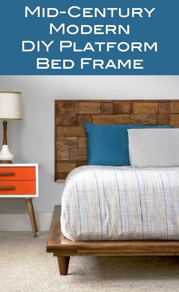 This Diy Platform Bed Frame Is Beautiful And Modern Diy Platform