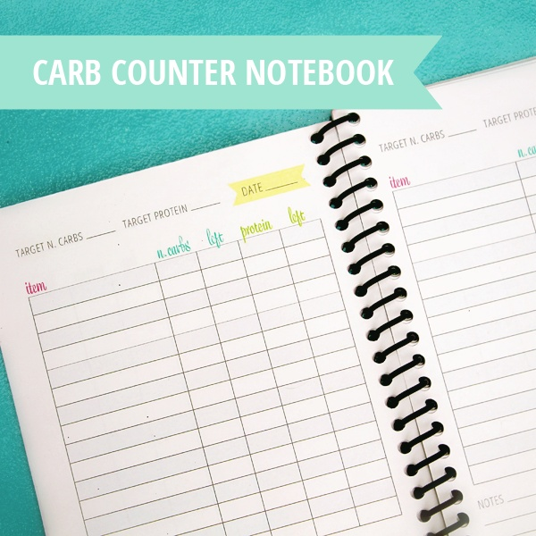 Free printable carb counter notebook!   Perfectly ...