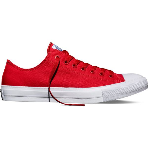 Converse Chuck Taylor All Star II – salsa red Sneakers ($75) ❤ liked on Polyvore featuring shoes, sneakers, salsa red, converse shoes, star sneakers, red sneakers, converse trainers and star shoes