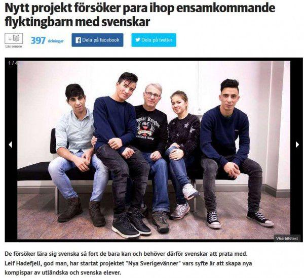 Zweden –In een artikel van de lokale krantJämtland wordt melding gemaaktdat menonbegeleide asielkinderen gaat koppelen aanZweedse jongeren, veelal meisjes van de middelbare school. Nieuw…