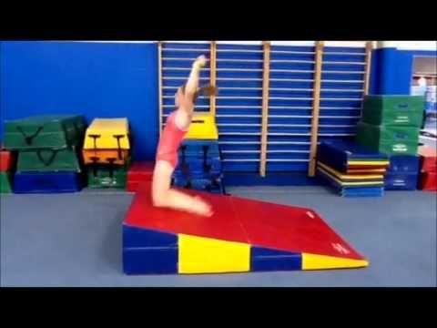 Back Tumbling Hip Set Drill for Floor - YouTube