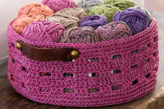 Crochet Bricks Storage Basket Free Pattern