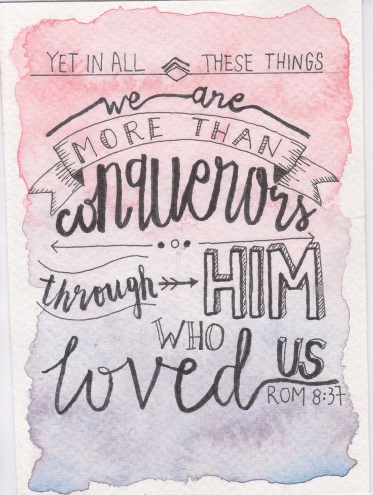 More than Conquerors Postcard // Romans 8:37 via Jillehdoodles. Click on the image to see more!