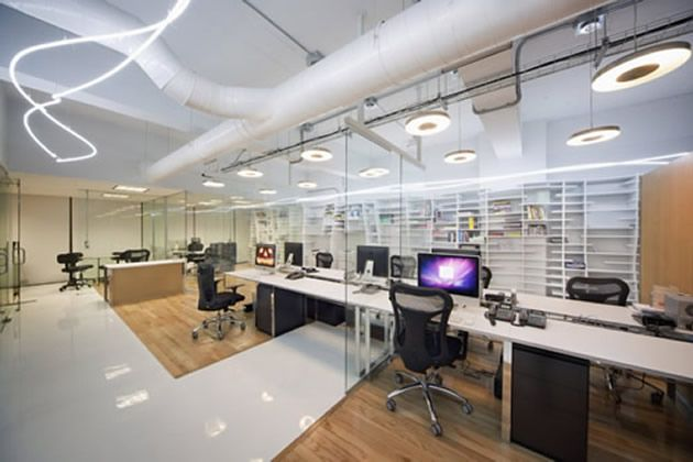 Office Space Industrial Design Decorating Interior Office Design