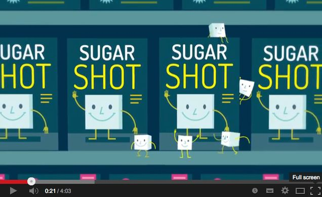 This informative animation by Dr. Robert Lustig gives an easy to understand explanation for hidden sugars. A great one for the kids.