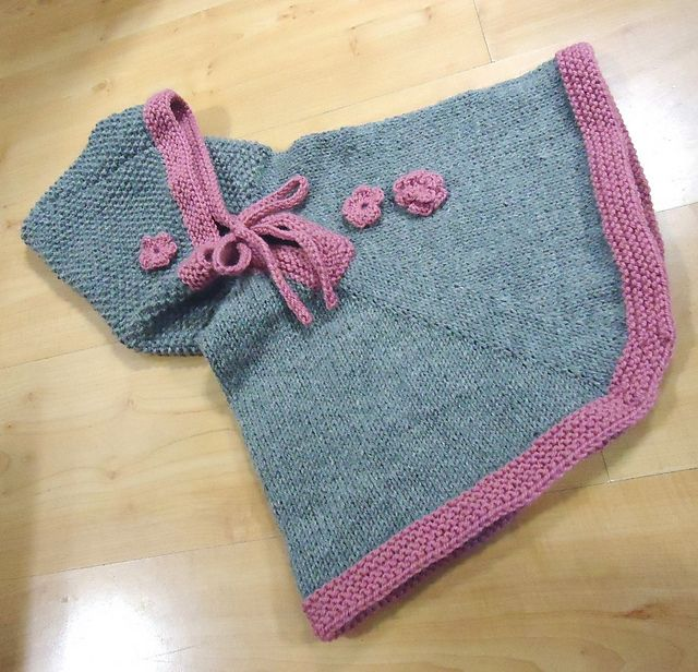 Ravelry: martassm's Gray and Pink Poncho