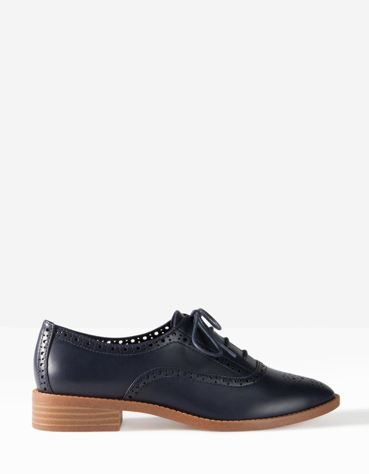Navy Punched Brogues Navy