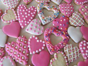Galletas decoradas de corazón para San Valentín