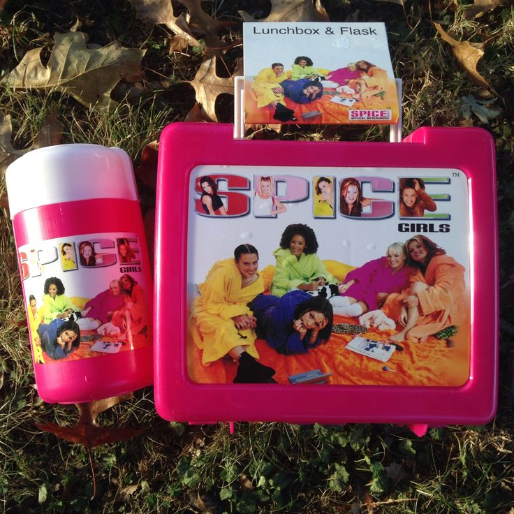 90s New Deadstock Spice Girls Lunchbox with Thermos by MurdyBurdy on Etsy https://www.etsy.com/listing/475262700/90s-new-deadstock-spice-girls-lunchbox