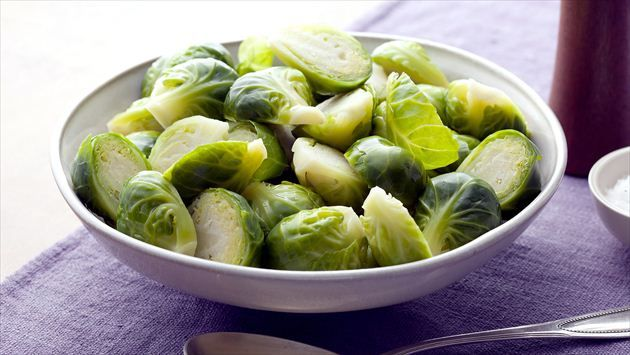 Basic Brussels Sprouts Recipe, from Alton Brown on the Food Network. Corrie's Notes: This worked well. I simmered the brussels sprouts with some gnocchi and topped them with a bacon cream sauce.