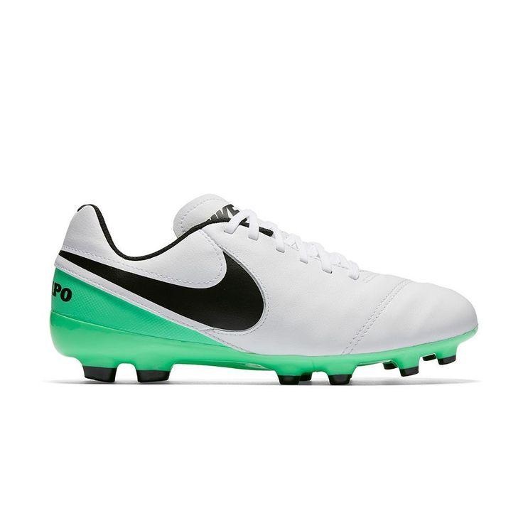 Nike Jr. Tiempo Legend VI Firm Ground Kids' Soccer Cleats, Kids Unisex, Size: 5.5, Natural