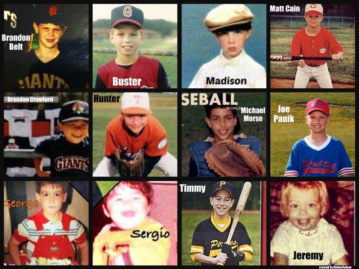 San Francisco Giants as kids ~ created by Kimberlydyan