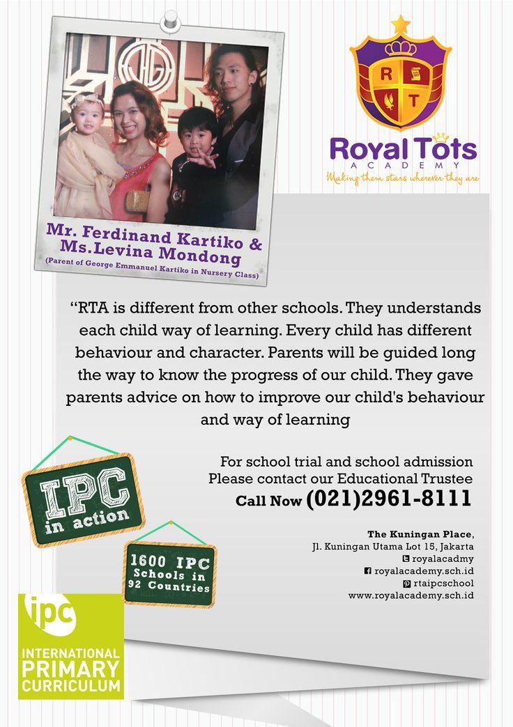 Mr.Ferdinand Kartiko & Ms.Levina Mondong Wibowo (Parents of Emmanuel Kartiko  in Nursery Class)   #Parent #IPC #School #Testimony