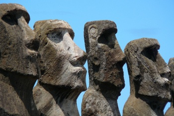 Rapa Nui National Park, Easter Island province of the Valparaíso Region, Chile. Inscription in 1995. Criteria: (i)(iii)(v)