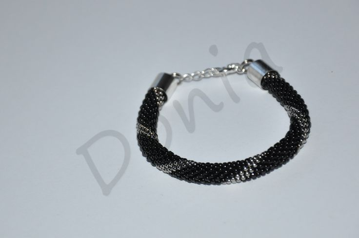 Bead Crochet Bracelet - another black