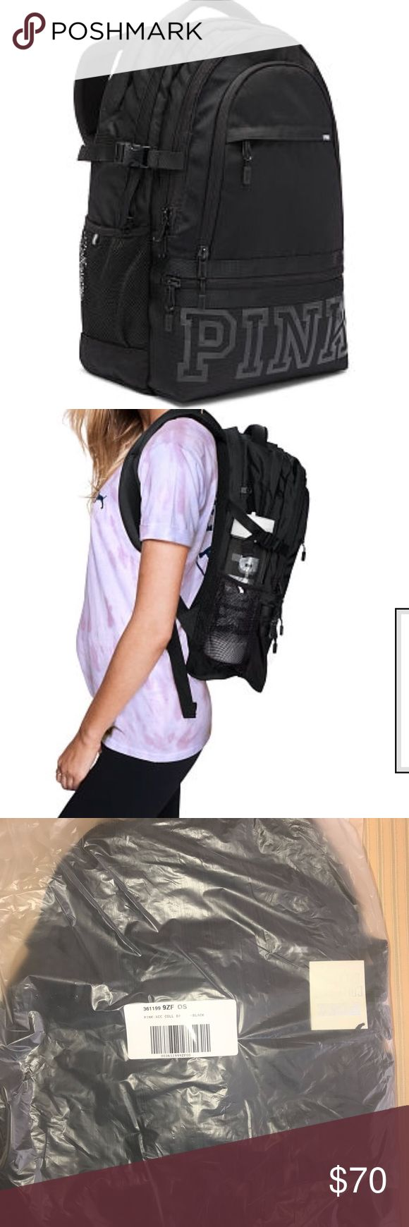 🆕Just Added Pink Victorias Secret Backpack :With more pockets and sturdier straps than your average bag, this backpack is a go-to for all your off campus adventures  Padded straps with mesh overlay for breathability Adjustable side compression straps for added support Durable, reinforced bottom panel  Zippered padded laptop sleeve fits 17'' laptop Three exterior pockets Two interior mesh pockets Mesh side pockets with adjustable elastic—perfect for water bottles! Sturdy, extra padded haul…