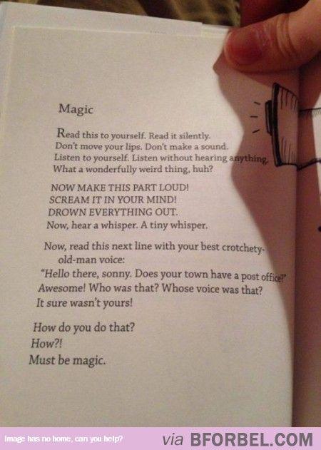 Must Be Magic In My Head!