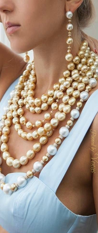 Yoko London ♥✤ golden South Sea pearls