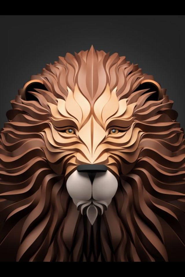 Lion vector 3D | Art design, Animal art, Art