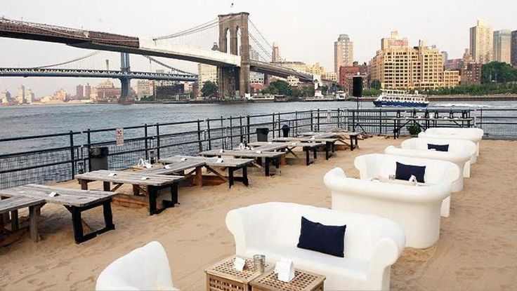 Best Rooftop Bars In New York  Beekman Beer Garden Beach Club  Located at the former Water Taxi Beach in South Street Seaport, Beekman Beer Garden is a one-stop-shop for summer fun: ping pong, chess, live music, sand, fire pit, tents for when it rains, kids allowed!