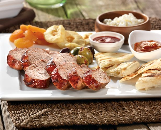 Tandoori Pork Tenderloin with Grilled Flatbread #Indian #Recipe
