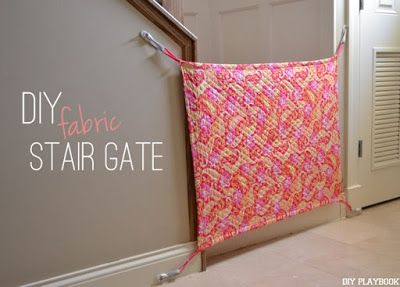 How to make a DIY fabric baby gate! Genius...