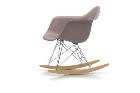 Vitra RAR Eames Plastic Armchair. Schaukelstuhl und Eames Klassiker. Farbe: Mauve-grau