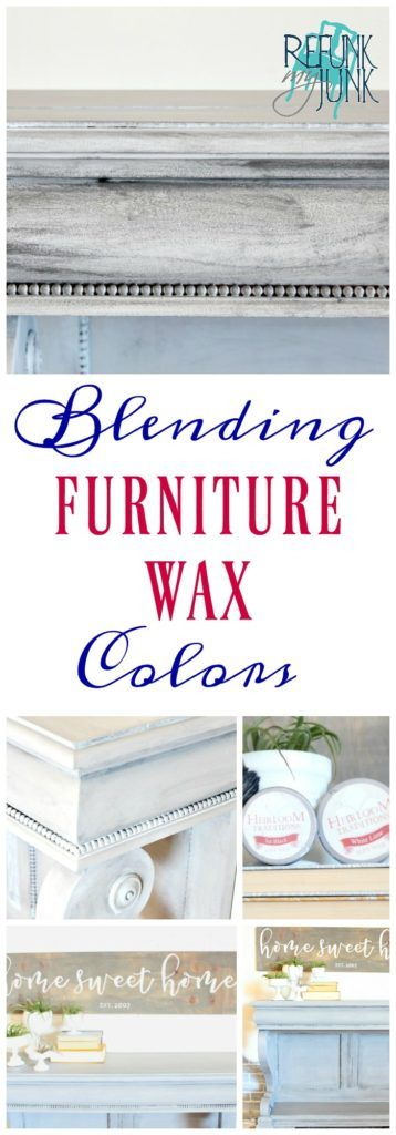 Blending Two Furniture Waxes for a Textured Finish | Furniture Painting Tips and How to use furniture wax by Refunk My Junk