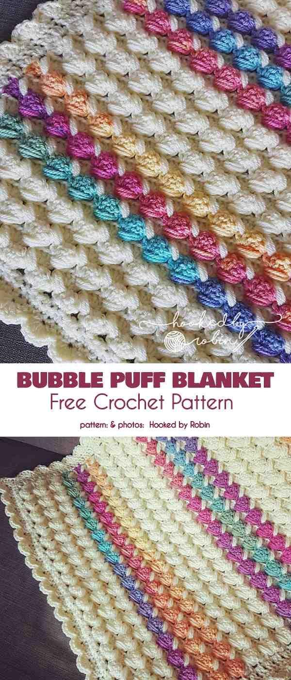 Puff Textured Baby Blanket Free Crochet Patterns In 2020 Crochet Stitches For Blankets Crochet Patterns Puff Blanket