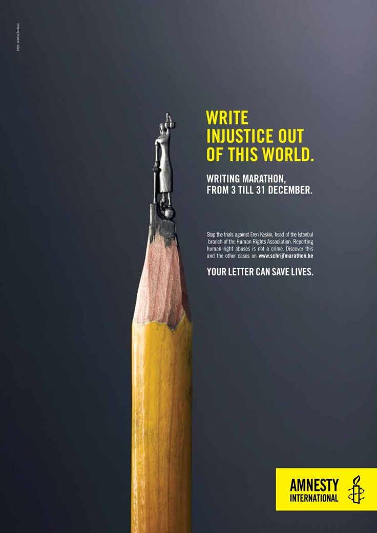 """Write injustice"" by Serviceplan Benelux for Amnesty International"