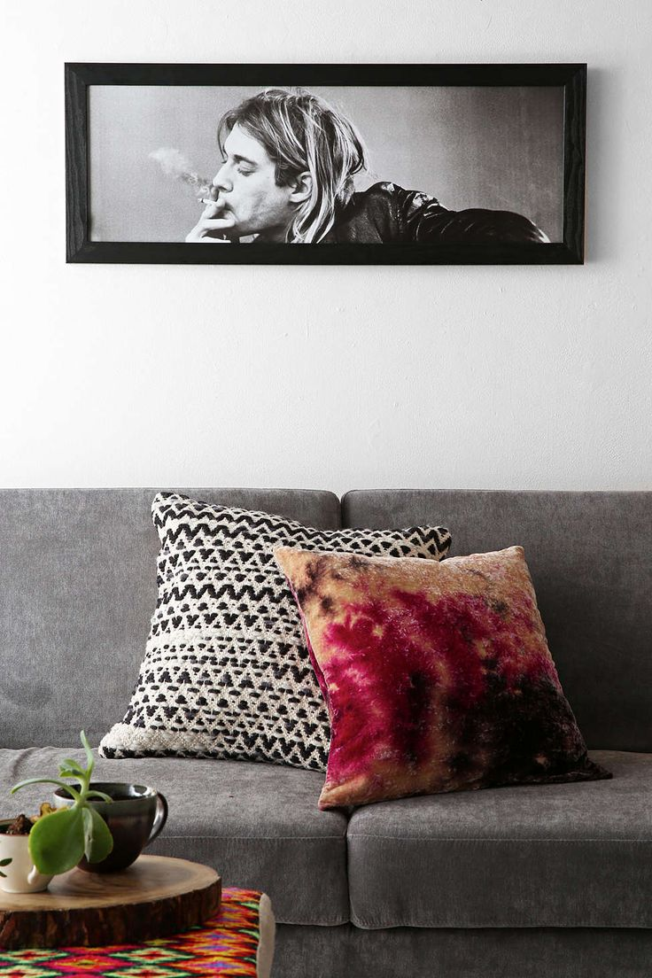 Kurt Cobain Framed Wall Art  *If I could get anything for my roommate, it would be this*
