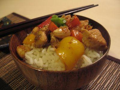 Andreea's Chinesefood blog: Pui Gongbao (Pui cu alune) 宫宝鸡丁