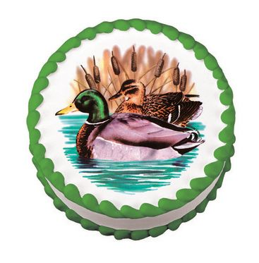 Edible Hunting Cake Decorations : Ducks, Decoration and Cakes on Pinterest
