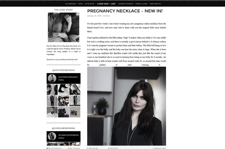Our Pregnancy Necklace on the Danish mother-to-be Caroline Nehring