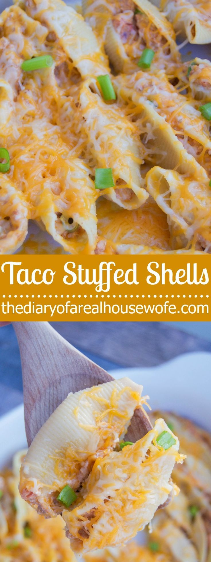 The BEST stuffed shell recipe. Taco Stuffed Shells. I LOVE this recipe. It's one of my all time favorites.